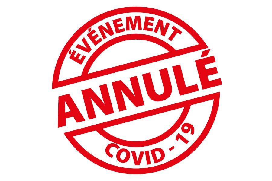 Evenement annule covid web