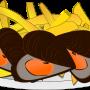 Kisspng moules frites french fries clip art mussel illustr balansun fte des coles 5bff77e57c0560 380349761543469029508